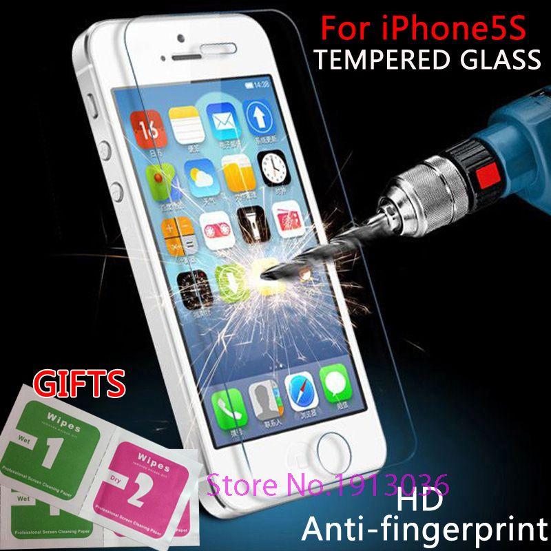 Per iPhone 5 s vetro temperato 0.3mm vetro sottile per il iPhone 5 protezione dello schermo per iPhone5s Protezione avanzata vetro