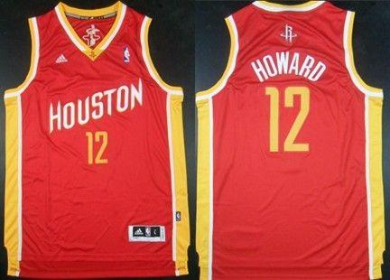 Houston Rockets  12 Dwight Howard Revolution 30 Swingman Red With Gold  Jersey e0eca24b5
