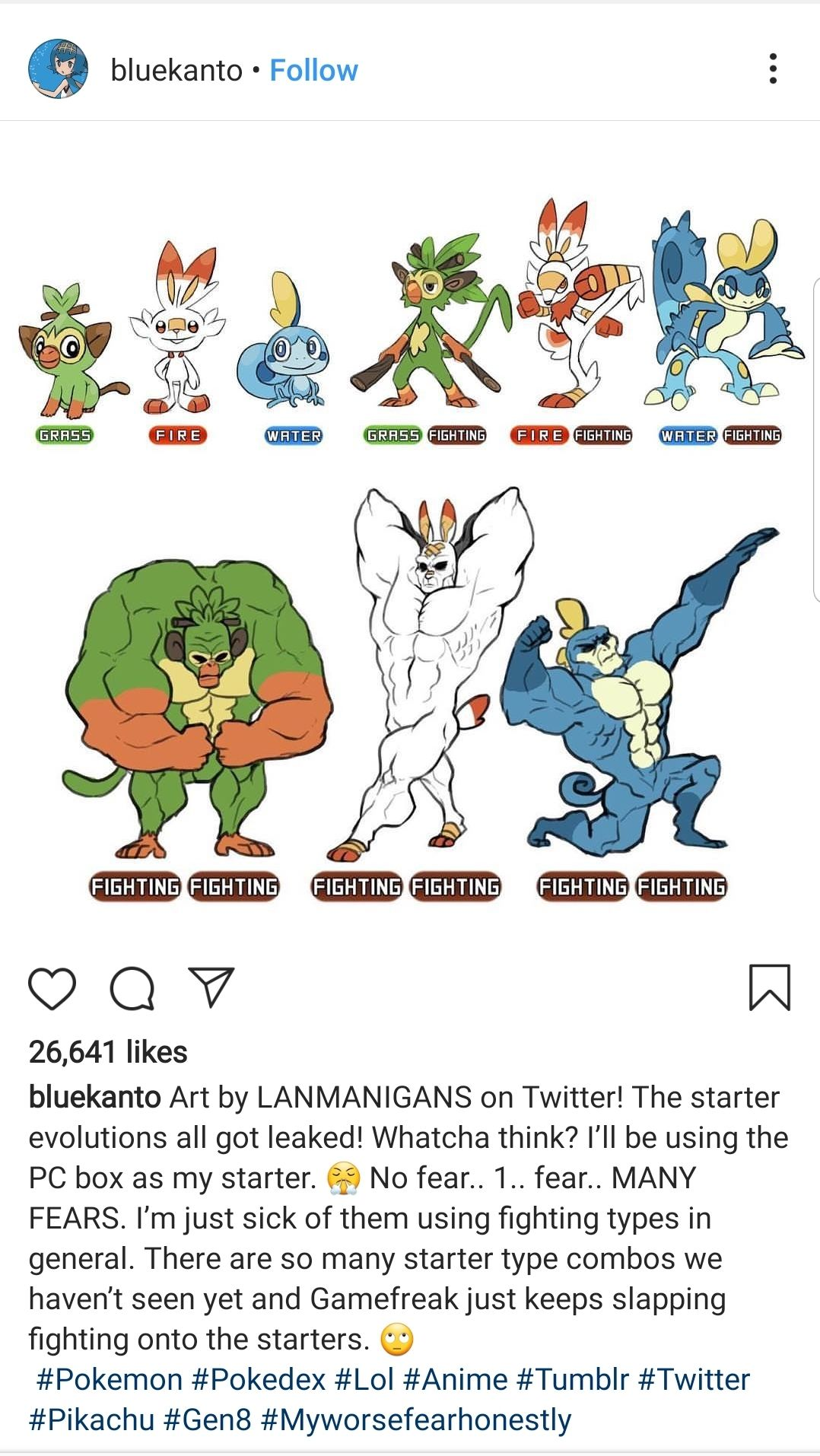 This is the only gen 8 starters evolution prediction I'm
