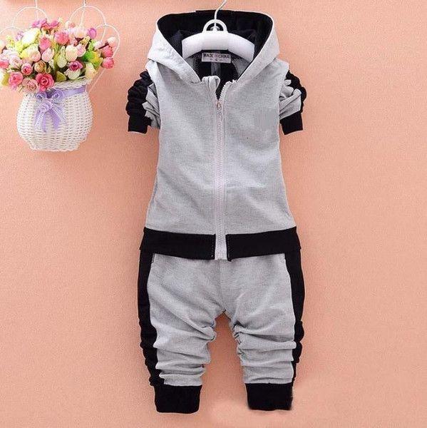 Frühling Kinder Anzüge Baby-Mädchen-Marken-Klage-Kind-Sport-Jacke + Hosen 2pcs / Sets Kinder Trac