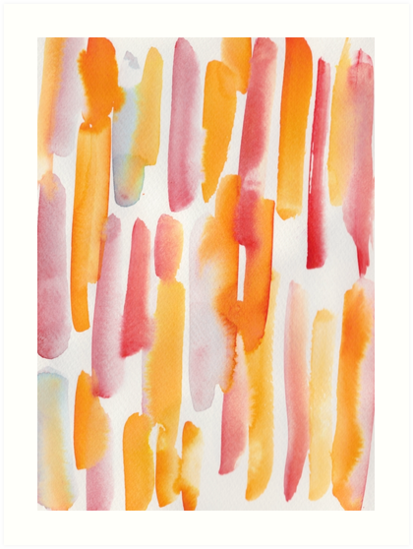 25 190224 Watercolour Pattern Abstract Art Print In 2019