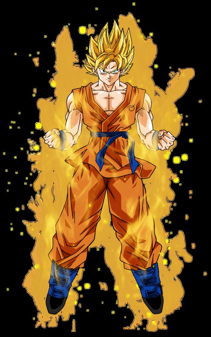 Goku Super Saiyan Aura By Bardocksonic Kucing Kreatif Sahabat