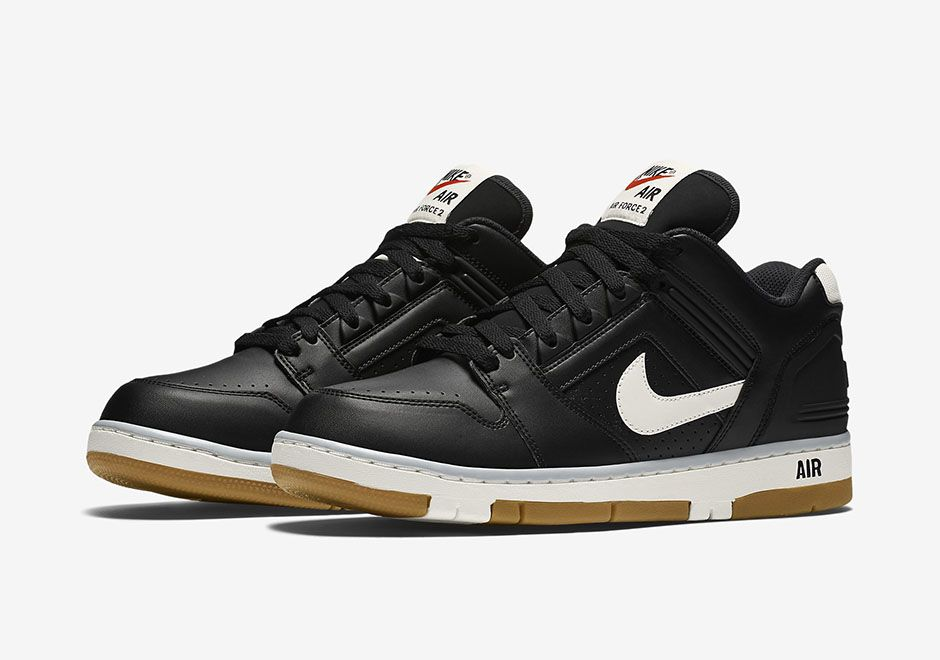 new style ed07e 7611d Nike Air Force 2 Low, black and white colorway.