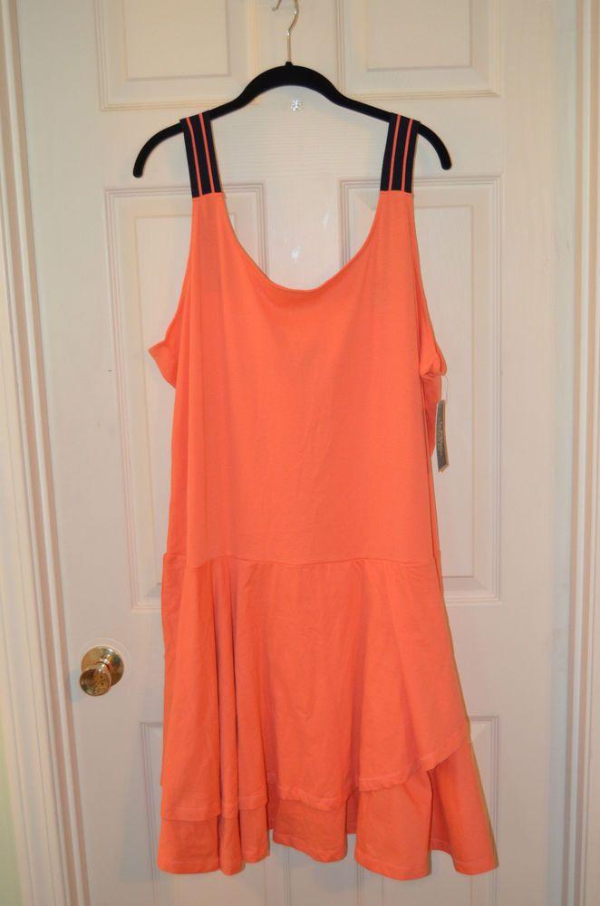 Lauren by Ralph Lauren Orange Plus Size 3X Ladies Dress Brand New with Tags #LaurenRalphLauren #AsymmetricalHem #Casual