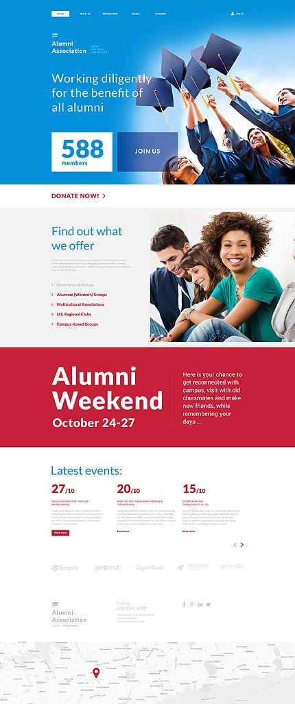 Template 57990 alumni association responsive website template template 57990 alumni association responsive website template maxwellsz