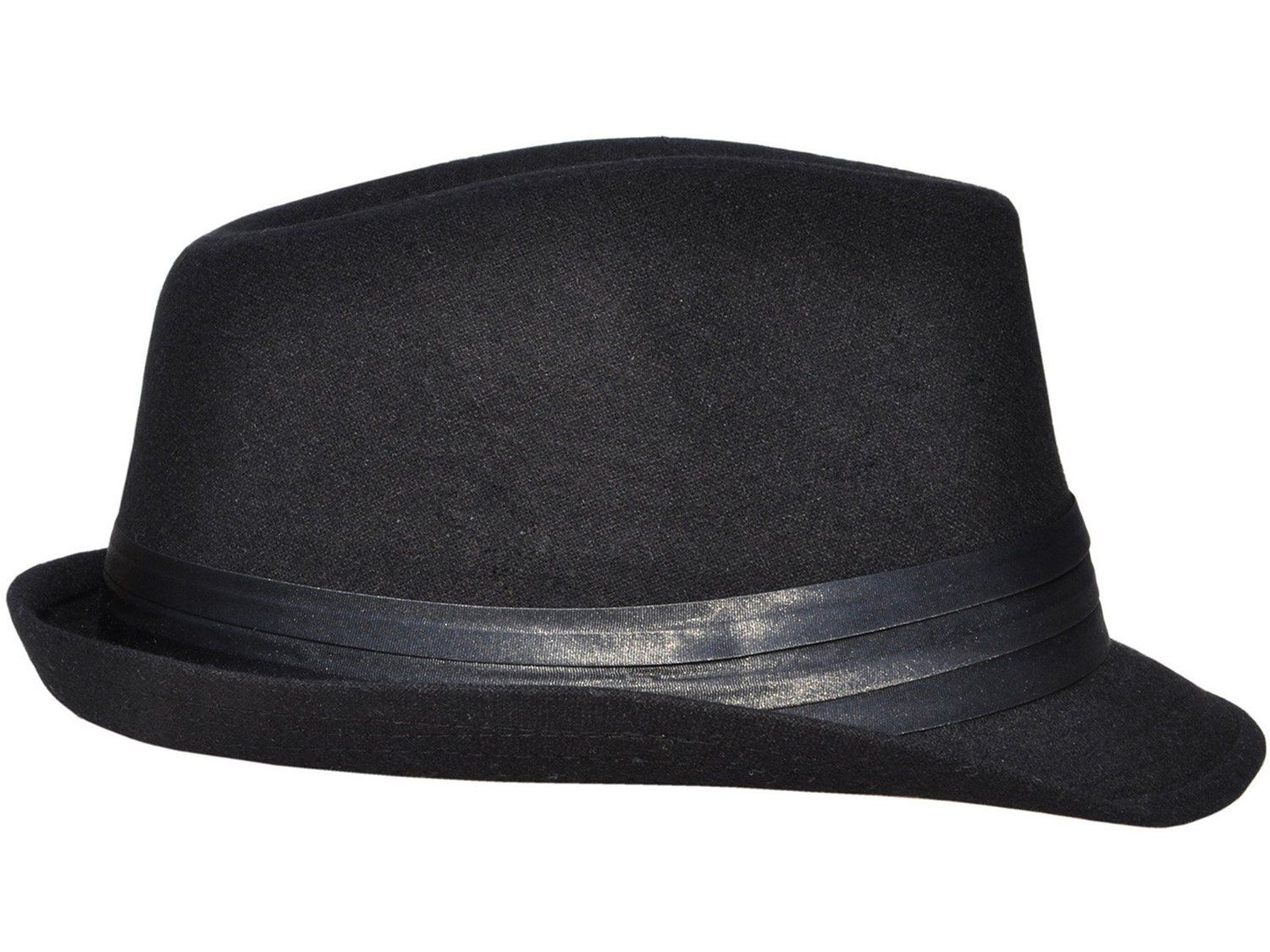 cd7c8476d Simplicity Unisex Structured Gangster Trilby Wool Fedora Hat ...