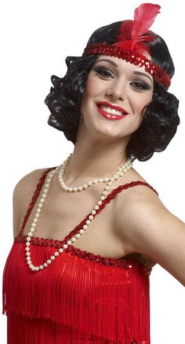 1920s jazz bob short hair curly flapper costume black wig feather ebay