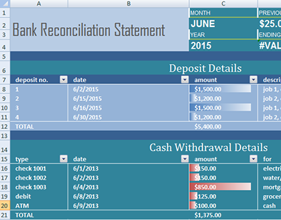 Check Out New Work On My Behance Portfolio Bank Reconciliation