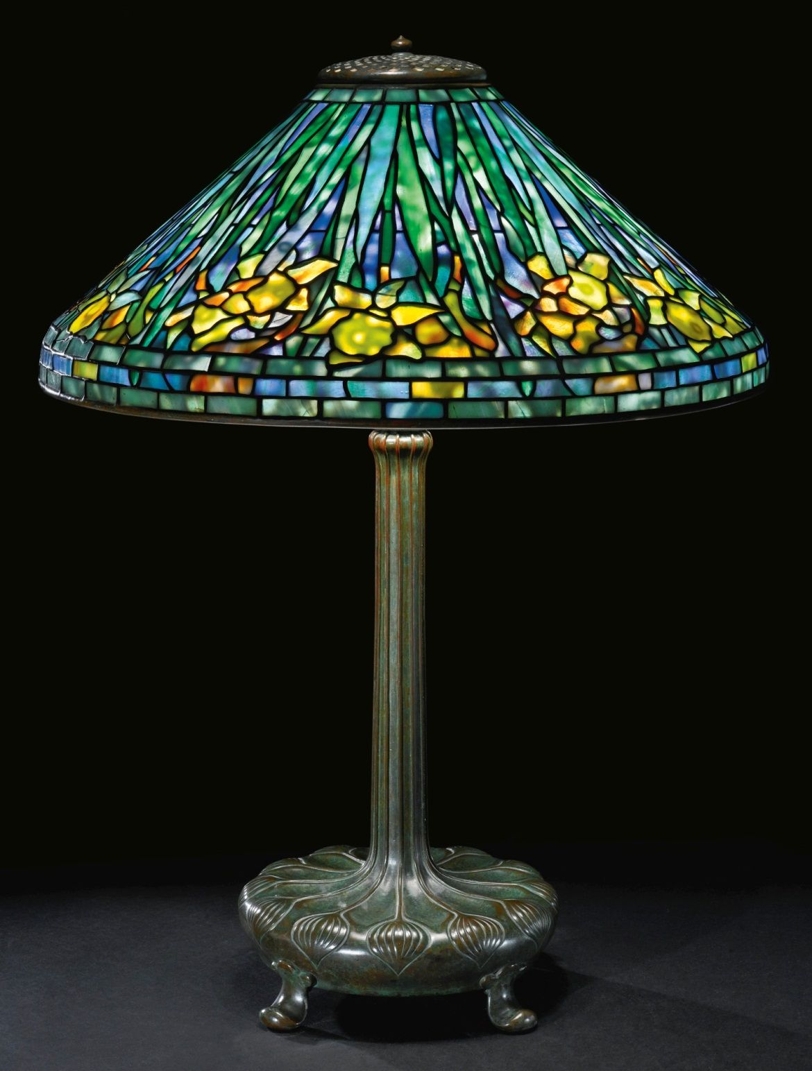 ** Tiffany Studios, New York, Favrile Leaded Glass and