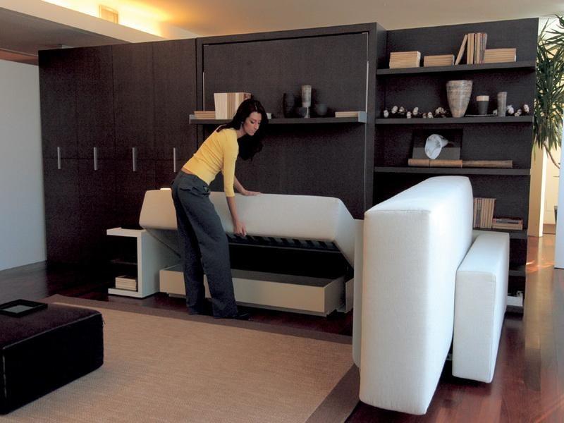 Camas abatibles para habitaciones pequeñas | Camas abatibles, Cama ...