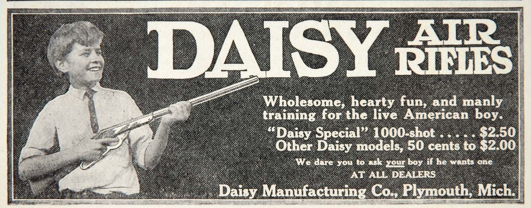 1912 Ad Daisy Air Rifle Special 1000 Shot American Boy - ORIGINAL ...