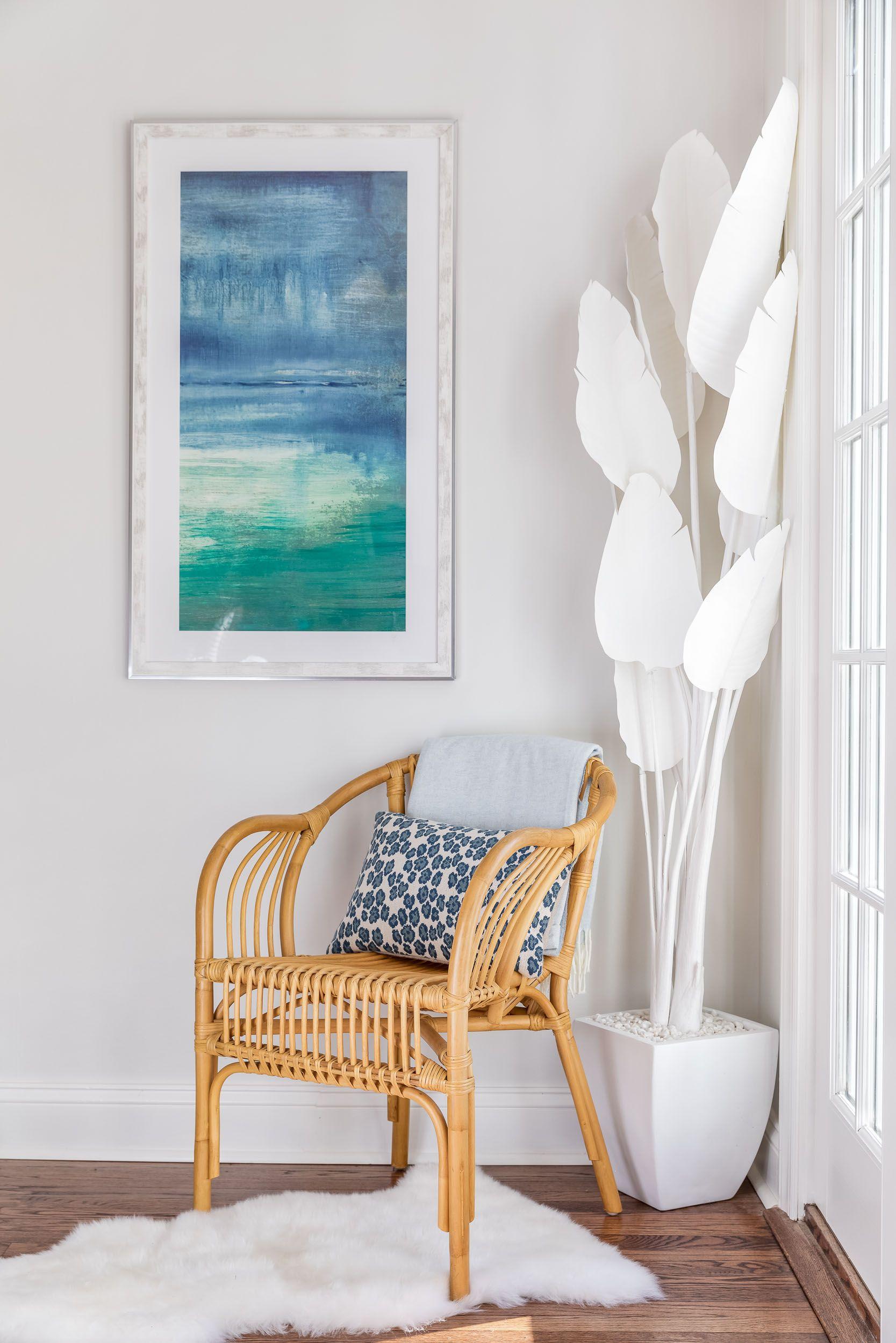 Best Winthrop Project Blue Beige Living Room Decor Rattan 400 x 300