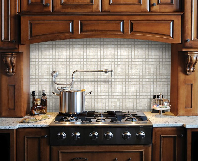 1 X1 Berkshire Crema Marble Mosaics Kitchen Redo New Kitchen Kitchen Cabinets