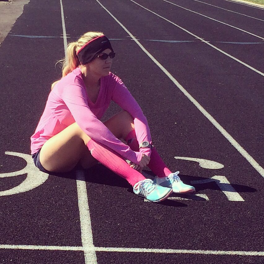 Speed workout, oiselle shirt and shorts