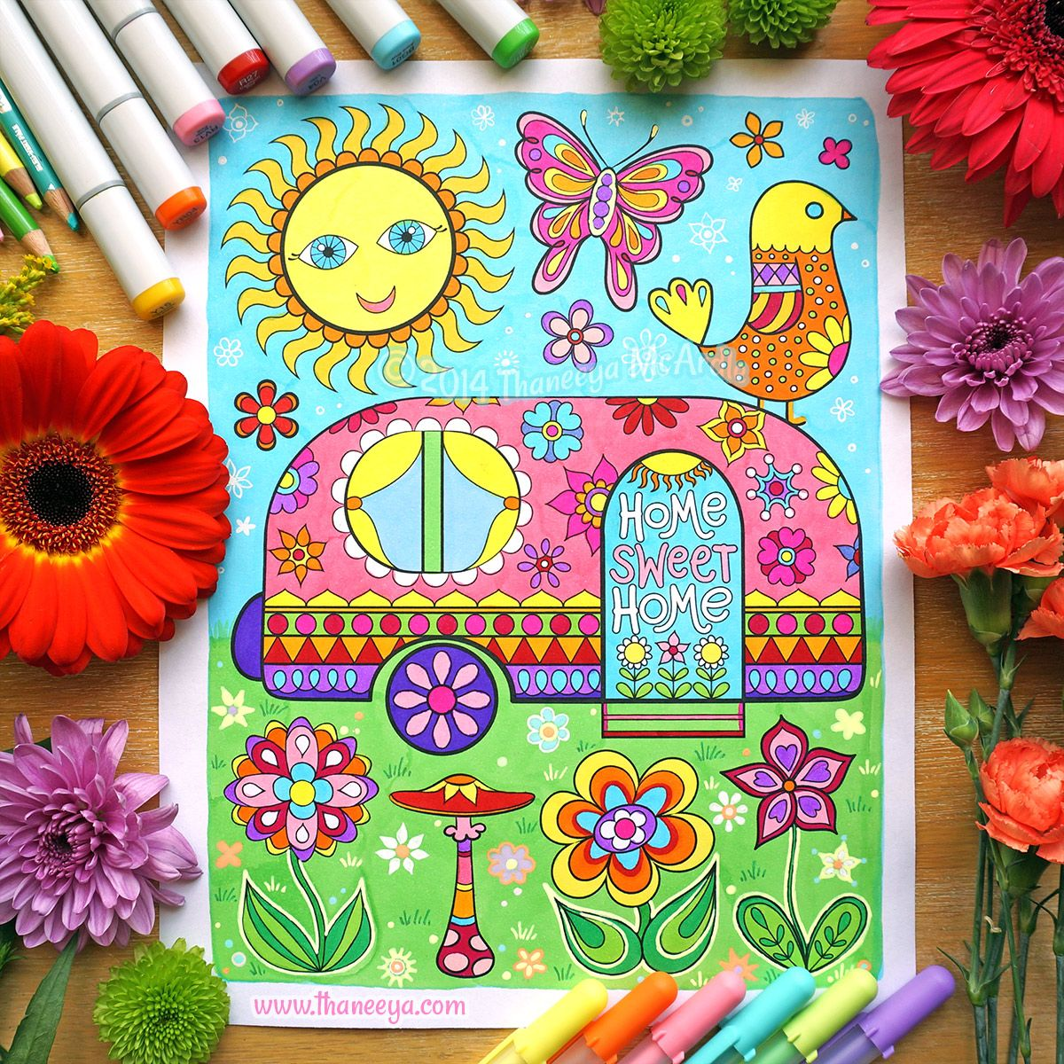 Free spirit coloring book by thaneeya mcardle coloring books by - Art From Happy Campers Coloring Book By Thaneeya Mcardle Http Www Amazon