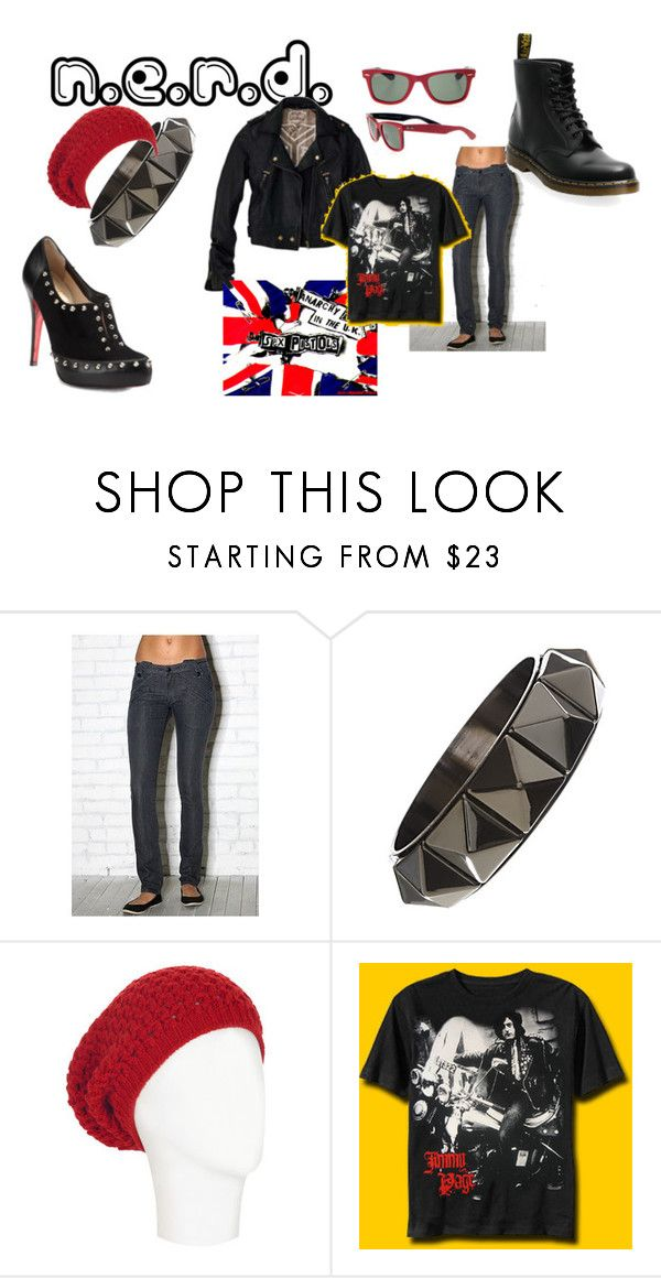 """""""nerd"""" by lykia ❤ liked on Polyvore featuring Max & Chloe, Ray-Ban, See by Chloé, Christian Louboutin and H by Hudson"""