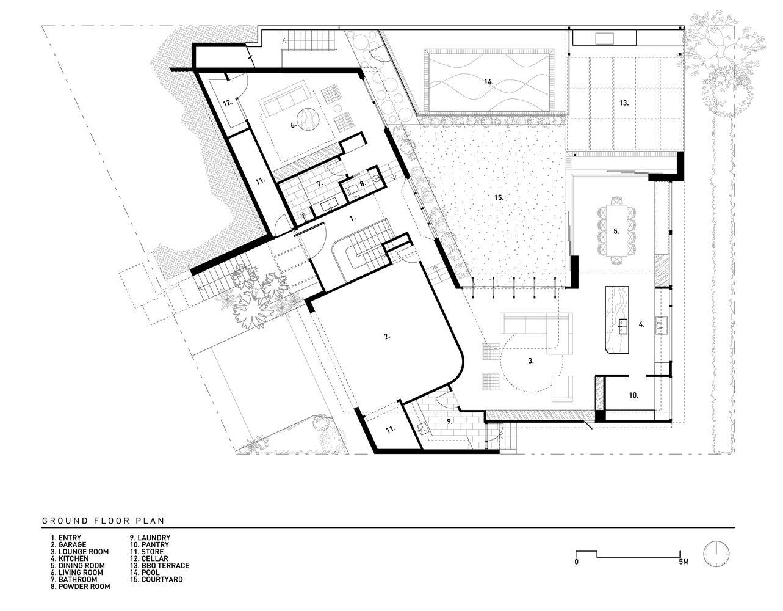Gallery Of Brisbane City Courtyard House Kelder Architects 53 Courtyard House Ground Floor Plan Courtyard