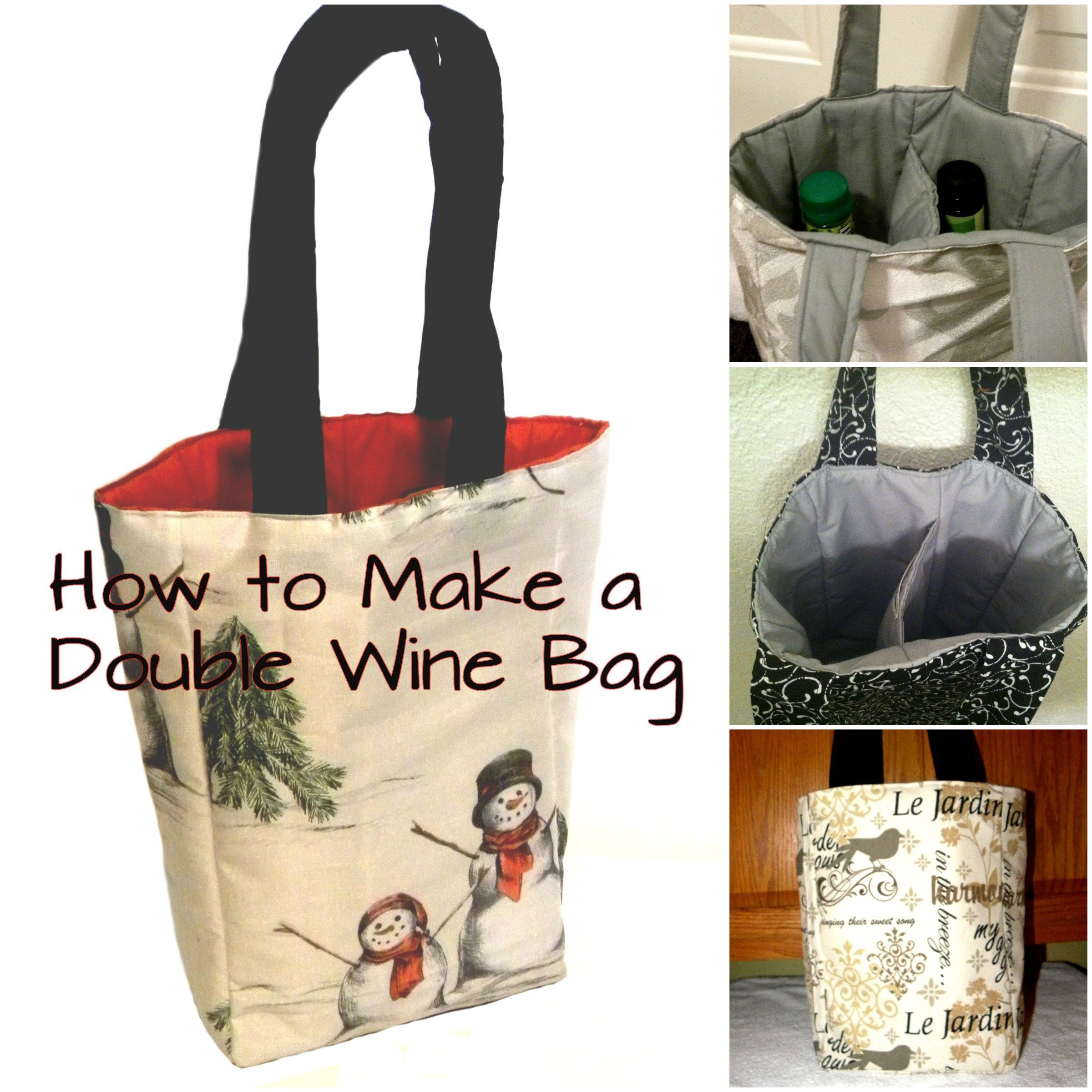 Double Wine Bag Tutorial Part 2 Diy Sewing Tutorials And