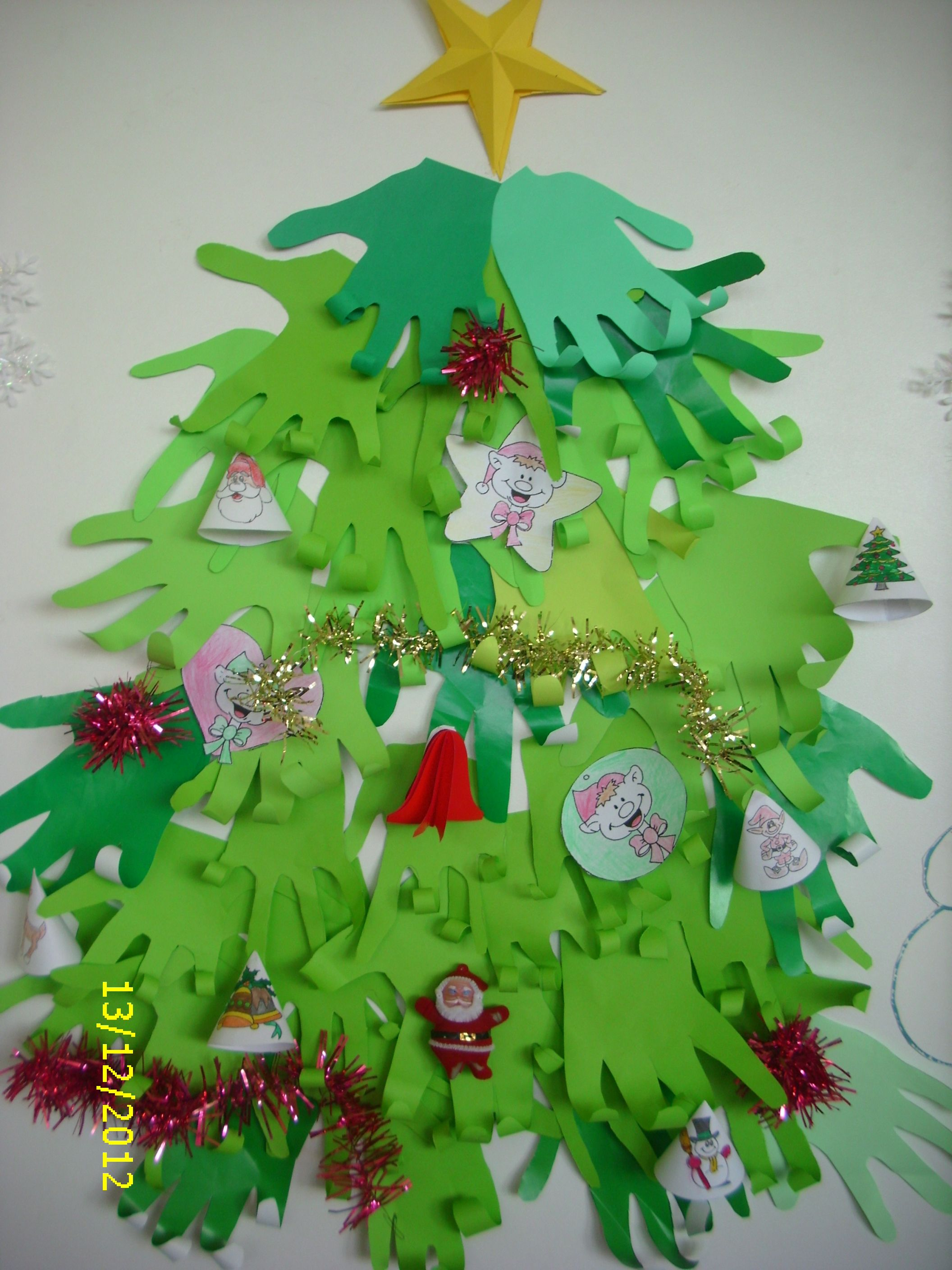 Christmas Tree From Paper Hands Crafts Christmas Ornaments Holiday Decor