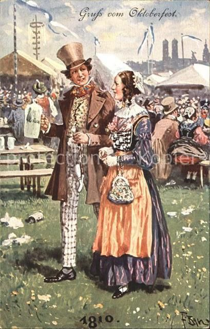 Oktoberfest 1810 Muenchen Trachten Bier Kat. Feiern und | dirndl ...