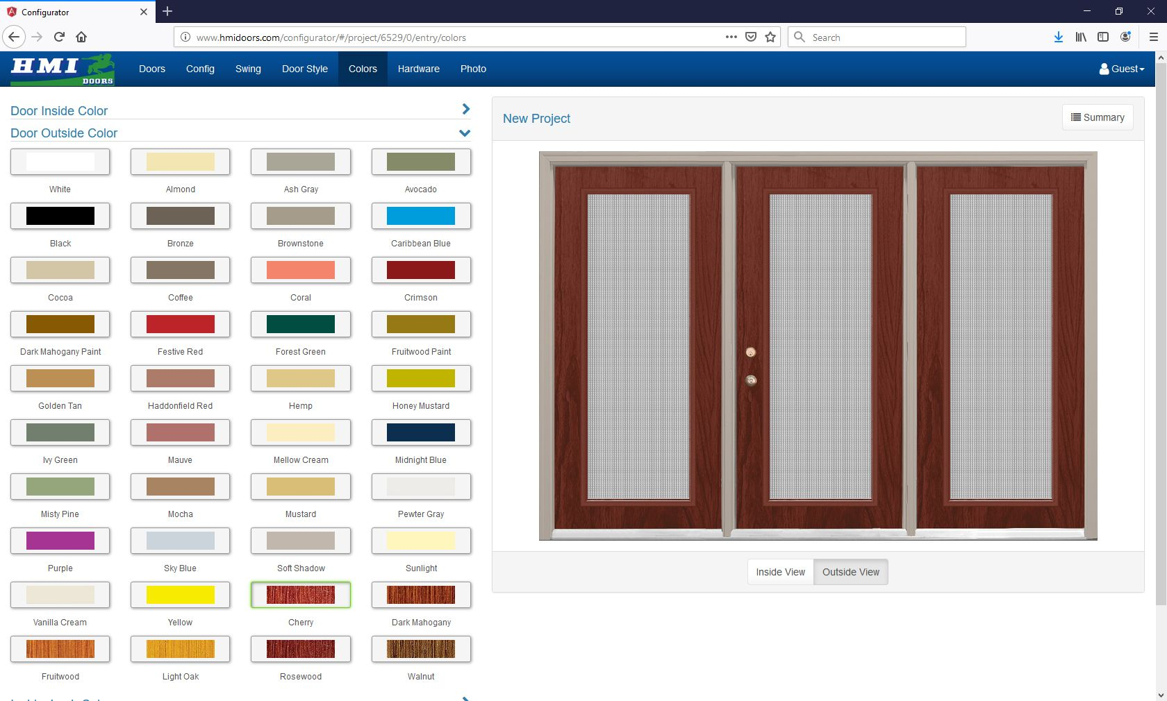 Did you know that you can design an entry door and preview