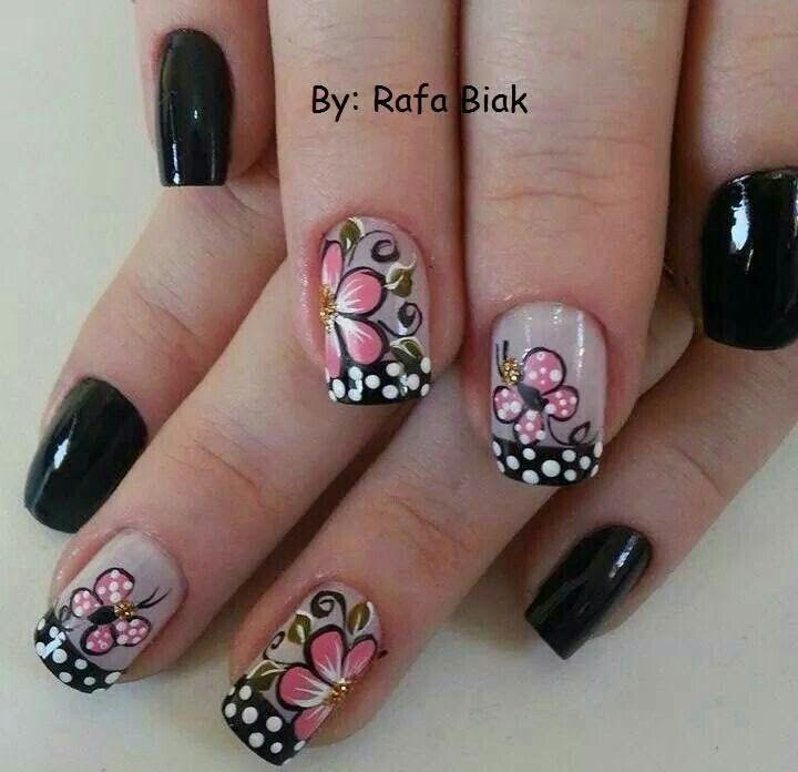 Puntos | Arte de uñas | Pinterest | Puntos, Diseños de uñas y Uña ...