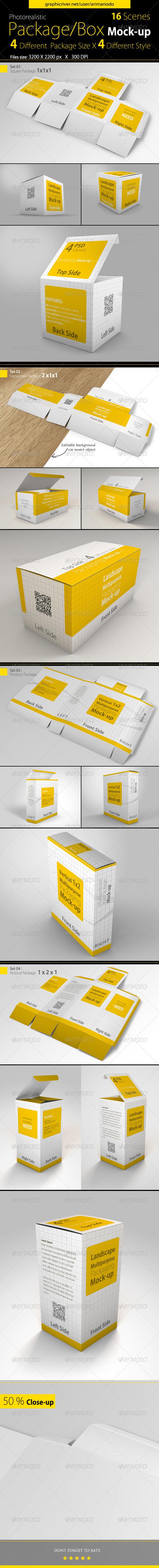 Download Multipurpose Package Box Mock Ups Graphic Design Mockup Box Mockup Packaging Mockup
