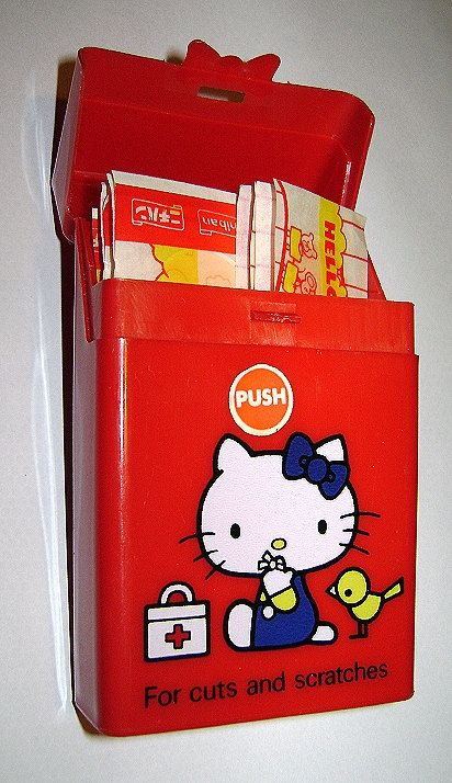 Collectible hello kitty 70s sanrio japan rare band aid stickers by tarlotoys on etsy