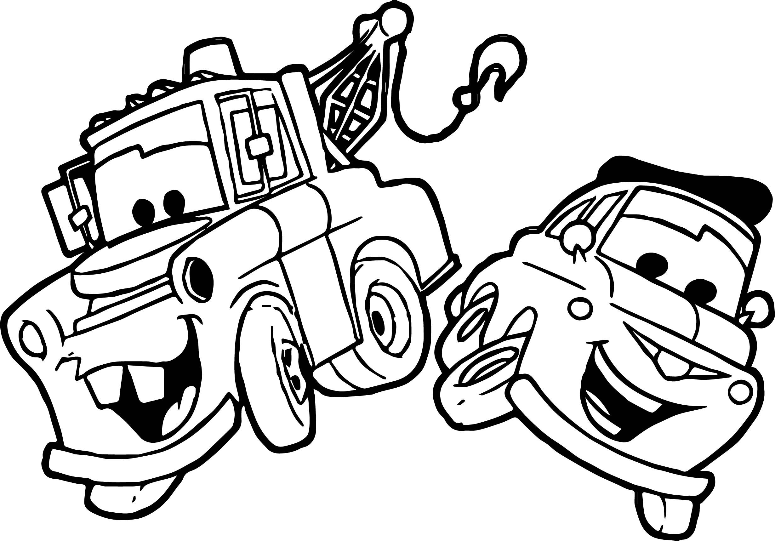 Awesome Pulling A Car Disney Cars Coloring Page Cars Coloring Pages Coloring Pages Disney Cars [ 1718 x 2461 Pixel ]