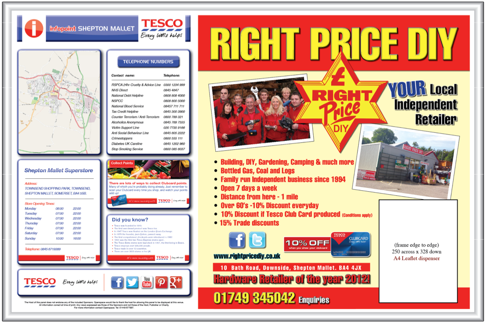Change your advert and keep it fresh with our A4 and A3 clip frames ...