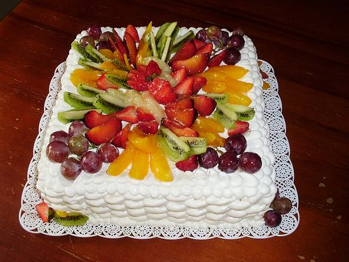 Pastel Decorado Con Frutas Imagui Con Imagenes Torta
