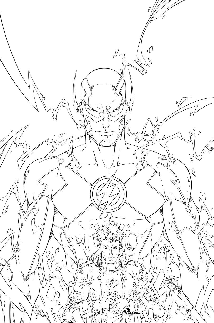 The Flash Ink #3 by SWAVE18 | LineArt: Flash-Family, Friends & Foes ...