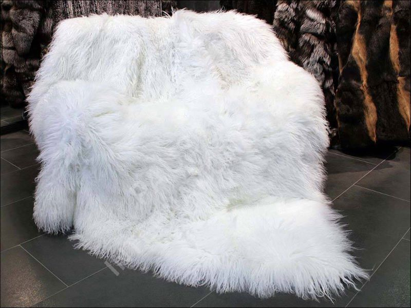 White Faux Fur Throw Or Rug Fur Blanket Furry Blanket Fluffy Blankets
