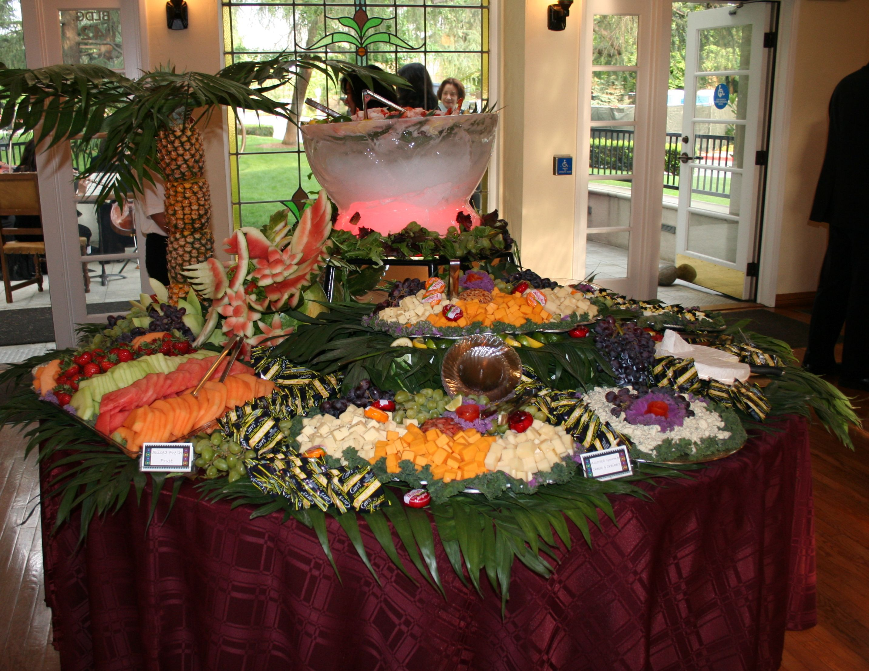 Wedding Food Ideas Buffet Display Buffet Set Country Beach