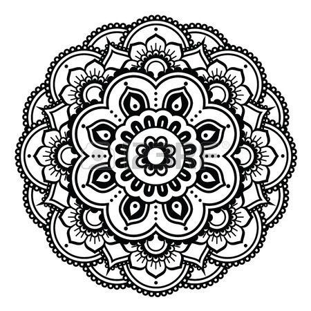Indian Henna Tattoo Pattern Or Background Mehndi Design Mandala