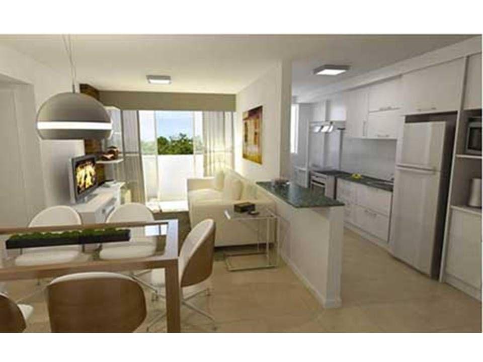 Como decorar uma sala pequena com cozinha americana for Cocinas pequenas modernas y funcionales