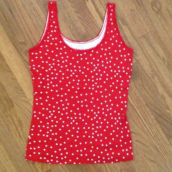 Sleeveless top, size L. NWOT St John's Bay sleeveless red with white dots, size L. NWOT St John's Bay Tops