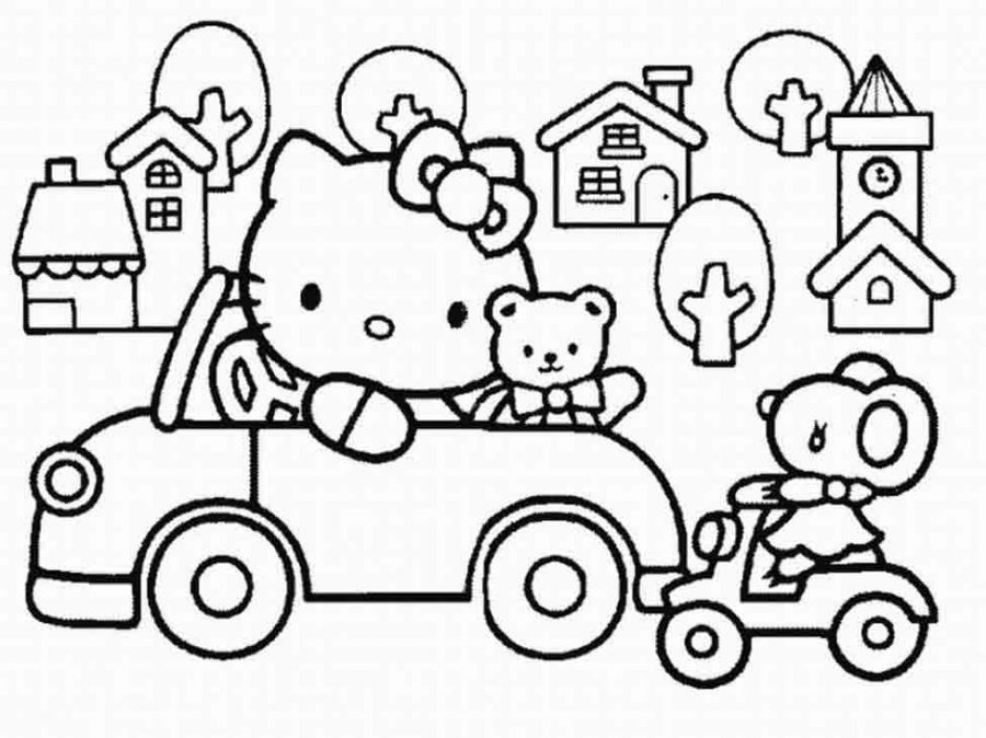 Hello Kitty Coloring Pages ( | Coloring--Hello Kitty | Pinterest ...