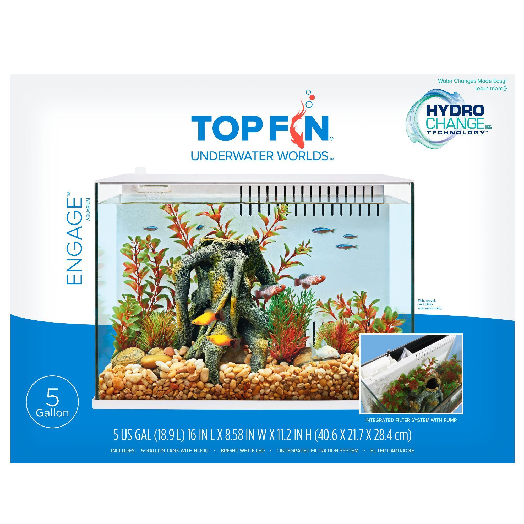 Top Fin Engage, 5 Gallon Aquarium size 5 Gal, gravel