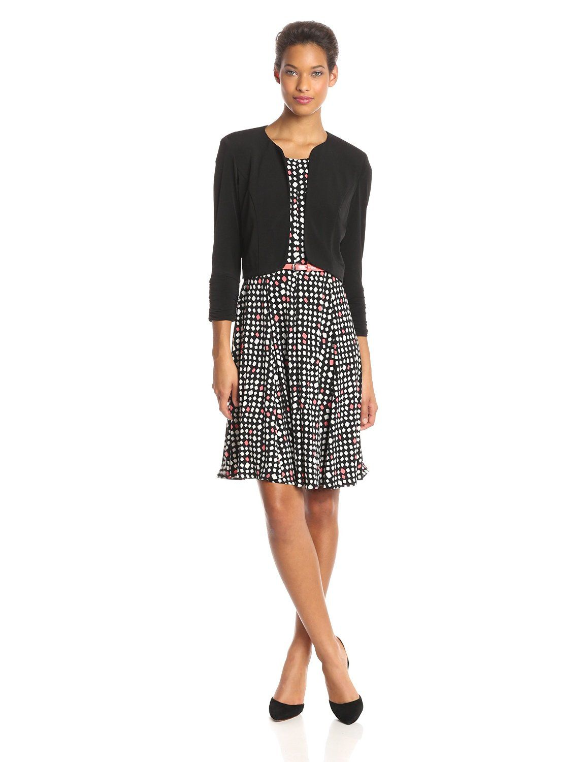 Printed Belted Jacket Dress By Jessica Howard Dresses For Work