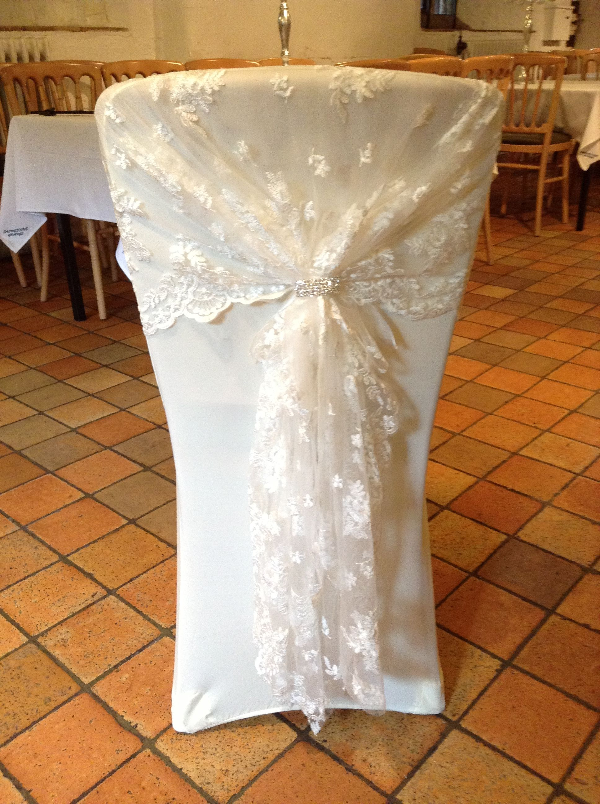 Banquet Chair Covers Ireland Oztrail Accessories Ivory Lace Hood With Cover Again Can Be Fitted Or Without Suitable For All Styles