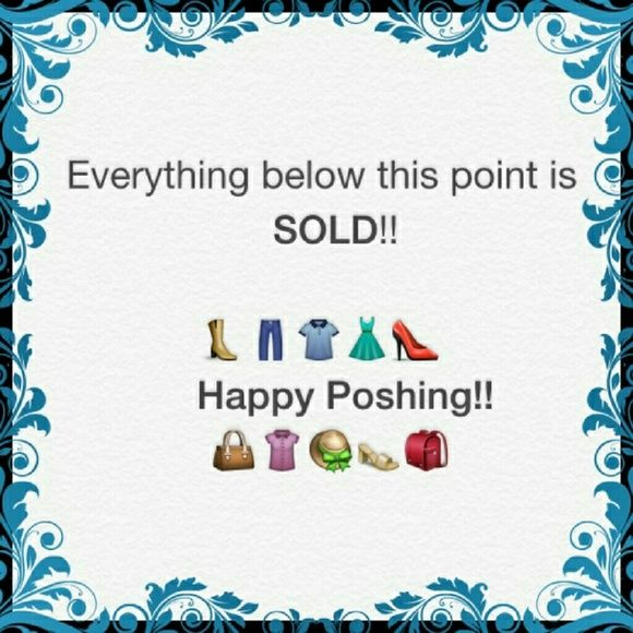 Thank You For Looking At My Closet All Items Below Have Been Sold. Thank You