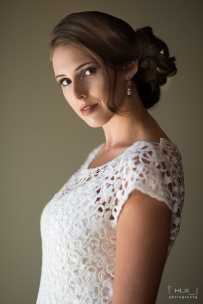 Daisy guipure lace wedding dress...Note: the silk underdress may be ...