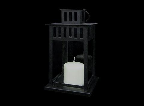"""11"""" Black Lantern - Stuart Party Rentals in Milpitas- $7.50/lantern"""
