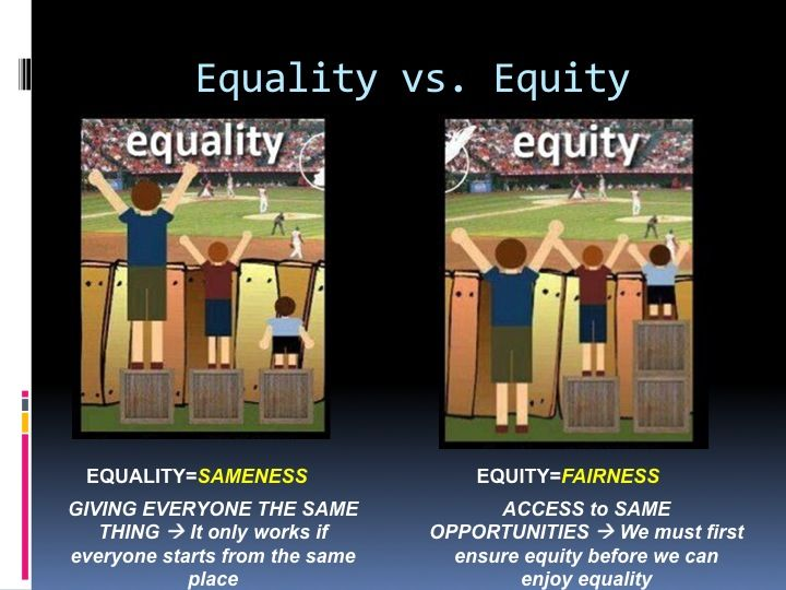 Not all students require equal treatment in order to reach the ...