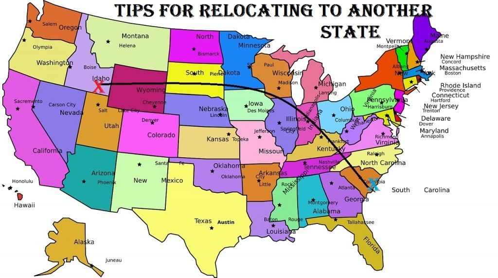 Moving Tips For Relocating To Another State Moving Tips States And Capitals Moving To Another State