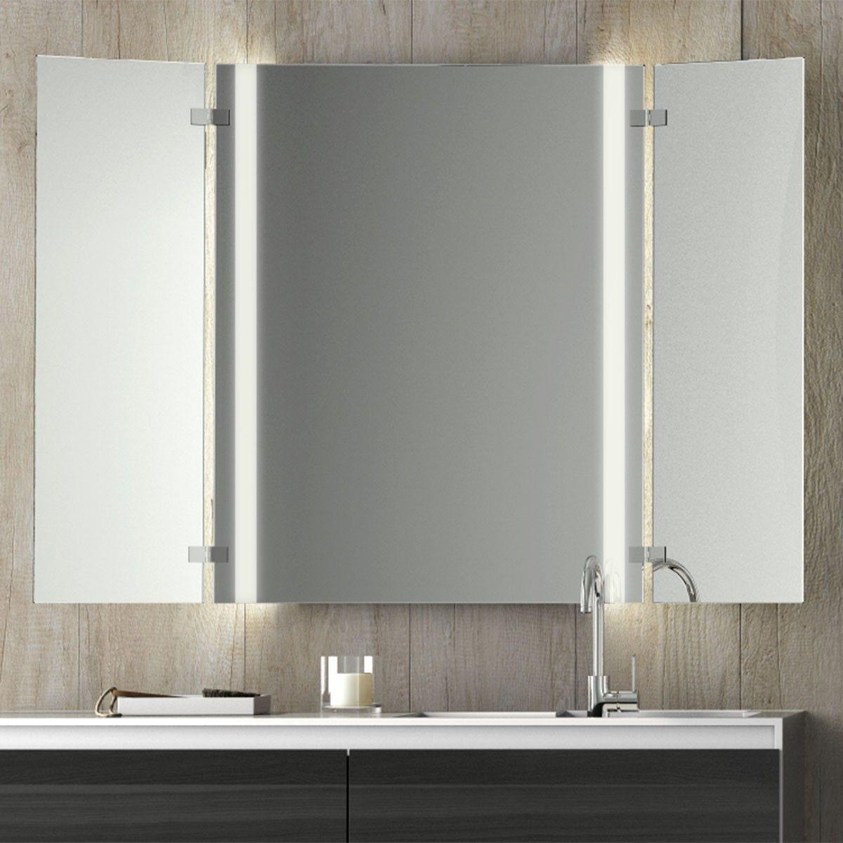 Beleuchteter Klappspiegel Masimo 989702177 In 2020 Klappspiegel Badezimmerspiegel Beleuchten