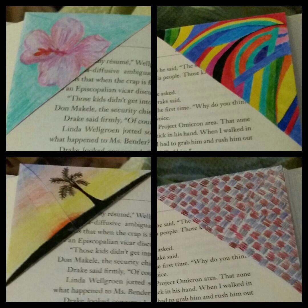 Envelope corner bookmarks