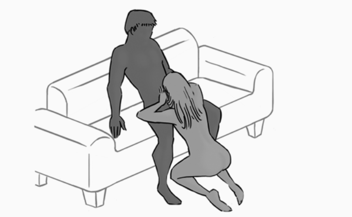 Sex positions standing on stairs