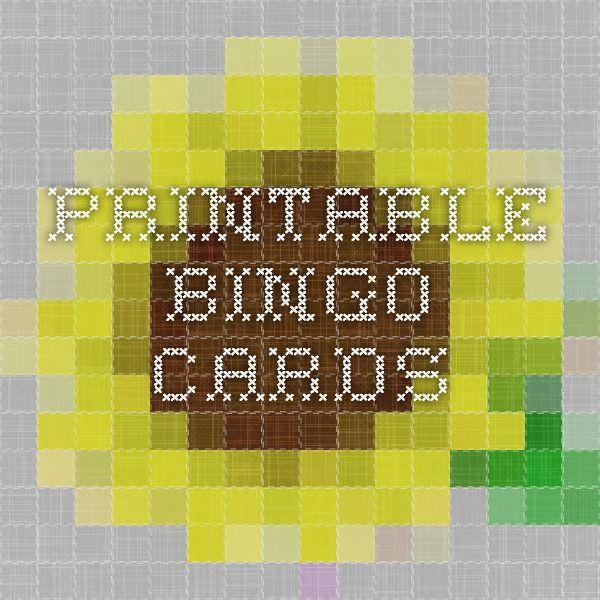 printable bingo cards abc dltk kids